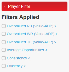 Player Filter