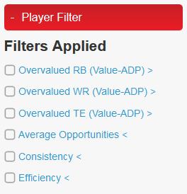Player Filter