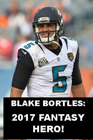 5 Reasons Why Blake Bortles is going to be a fantasy hero in 2017